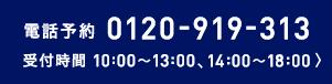 電話予約0120-919-313